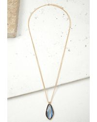 Forever 21 | Blue Layered Faux Stone Necklace | Lyst