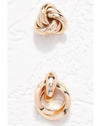 Forever 21 | Metallic Twisted Earrings Set | Lyst