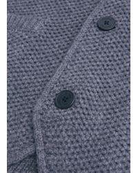 Mango | Blue Waffle-knit Wool-blend Cardigan for Men | Lyst