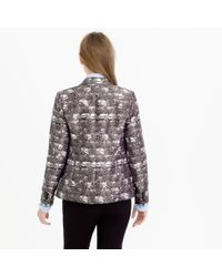 J.Crew - Purple Campbell Blazer In Feather Print - Lyst