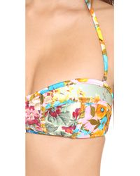 Zimmermann Multicolor Sundance Zip It Bandeau Bikini - Splice