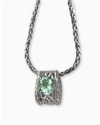 Effy | Metallic Balissima Green Amethyst Necklace Set In Sterling Silver | Lyst