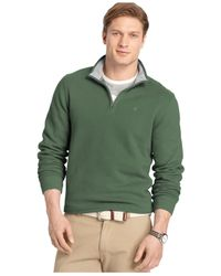 Izod | Green Big And Tall Sueded Quarter-zip Pullover for Men | Lyst