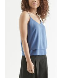 Oasis Blue Double Layer Cami