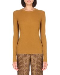 Michael Kors | Orange Round-neck Cashmere Jumper | Lyst