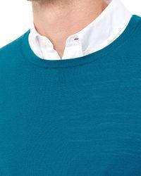 Jaeger | Blue Gostwyck Crew Neck Sweater for Men | Lyst