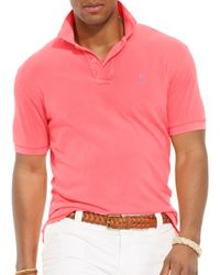 Ralph Lauren | Pink Polo Neon Mesh Polo Shirt - Classic Fit for Men | Lyst
