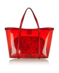 Dolce & Gabbana - Red Escape Leathertrimmed Pvc Tote - Lyst