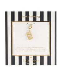 kate spade new york | Metallic How Charming Camera Charm | Lyst