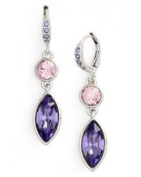 Givenchy - Purple 'crescent' Drop Earrings - Lyst