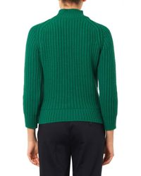 Maison Kitsuné | Green Ribbed-knit Wool Sweater | Lyst