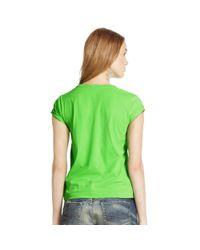 Polo Ralph Lauren - Green Pony Cotton Jersey Tee - Lyst