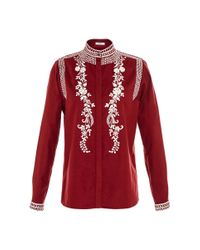 Vilshenko - Purple Koby Fine Wool Cashmere Embroidered Blouse - Lyst