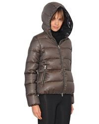 Duvetica Brown Thiadue Cinzato Wool Blend Down Jacket