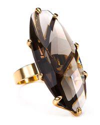 Robert Lee Morris Metallic Big Stone Ring