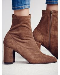 Free People | Brown World Tour Ankle Boot | Lyst