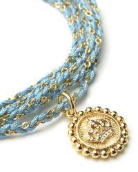 Juicy Couture | Blue Woven Cord Wrap Bracelet | Lyst
