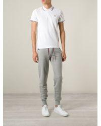 Moncler White Classic Polo Shirt for men