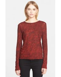 Proenza Schouler | Red Print Cotton Tee | Lyst