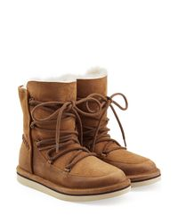 UGG - Brown Lodge Water-Resistant Suede Boots - Lyst