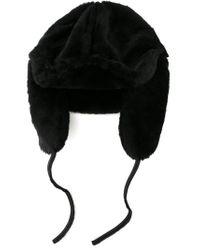 Paul Smith - Black Shearling Hat for Men - Lyst