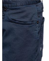 Denham | Blue 'razor' Cotton Chino Shorts for Men | Lyst