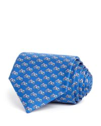 Ferragamo Blue Motorcycle Classic Tie for men