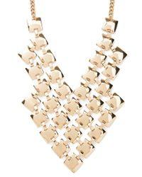 Forever 21 - Metallic Square Bib Statement Necklace - Lyst