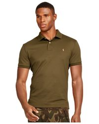 Polo Ralph Lauren | Green Men's Pima Soft-touch Polo for Men | Lyst