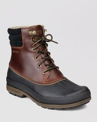 Sperry Top-Sider Black Cold Bay Waterproof Boots for men