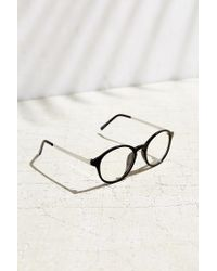 Urban Outfitters | Black Petite Round Readers | Lyst