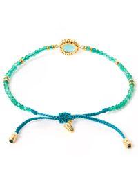 Tai Blue Turquoise Starburst Beaded Bracelet