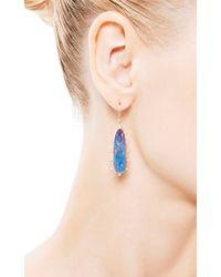 Kothari Blue One Of A Kind Boulder Opal Satellite Drop Earrings