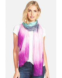 La Fiorentina Pink Ombre Silk Scarf