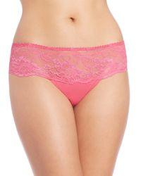 Aubade | Pink Les Belles Garconnes Lace Tanga | Lyst