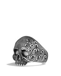 David Yurman | Metallic Waves Large Skull Ring for Men | Lyst