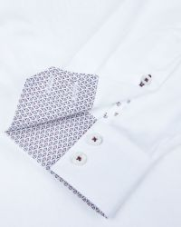 Ted Baker | White Jakamo Jacquard Shirt for Men | Lyst