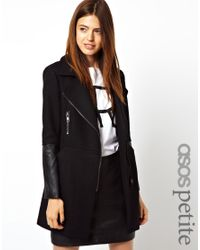 ASOS Black Exclusive Biker Coat