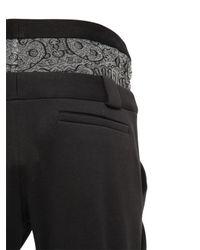 Nicopanda | Black Paneled Cotton Jogging Pants | Lyst