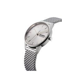 Sunspel Metallic Uniform Wares C40 Watch In Polished Steel With Milanese Mesh Bracelet