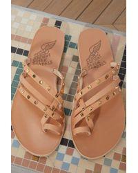 Ancient Greek Sandals Natural Apli Amalia Nails Sandals