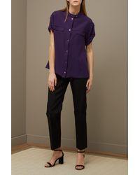 Maison Ullens Blue Silk Crepe Shirt
