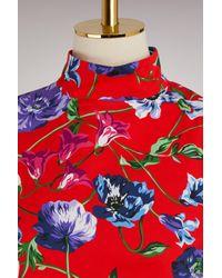 Robe Wild Flowers en coton KENZO en coloris Red