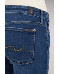 7 For All Mankind - Blue Cotton Piper Jean - Lyst