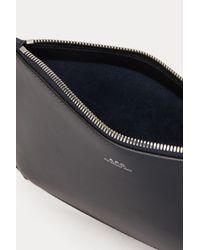A.P.C. Blue Leather Sarah Pouch