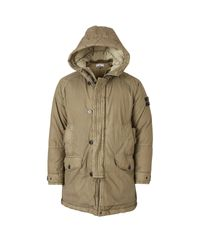 Stone Island Green Long Parka for men