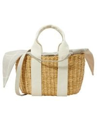 Muuñ Natural P Hdl Tote Bag With Pouch