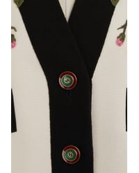 Gucci - Pink Embroidered Wool Coat - Lyst
