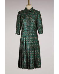 Prada Green Jacquard Flower Dress