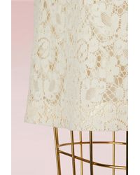 Gucci - Natural Lace Skirt With Web - Lyst